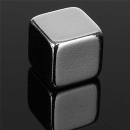 Wholesale Magnet Square - N50 20pcs 10X10x10 mm Square Rare Earth Cube Block Neodymium Super Strong Magnet Powerful Can be applied to many Fields DIY