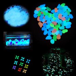 Wholesale Glow Stones Pebbles - Glow Stone Simulation Lightweight Luminous Pebble Stone For Home Fish Tank Decor Garden Corridor Decorations Free Shipping
