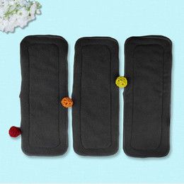 Wholesale Diaper Water - New 5 Pcs Set Reusable 4 Layers Of Bamboo Charcoal Insert Soft Baby Cloth Nappy Diaper Use Water Absorbent Breathable Diaper