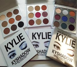 Wholesale Fall Colors - Kylie Jenner Holiday Edition Kyshadow THE BURGUNDY Bronze PALETTE Kylie Cosmetics Fall Collection Eyeshadow Palette Makeup DropShipping