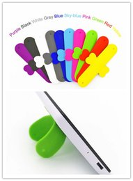 Wholesale Cellphone Stands Color - Phone Stand 1000x Custom Logo Silicone cellphone Holder for iPhone Samsung Oppo Xiaomi Huawei Smartphones One Touch U