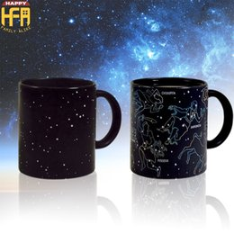 Wholesale Photo Gifts Wholesale - Ceramic Mugs Constellation Cup Water Cup Creative 12 Constellation Stars Color Changing Glass Personalized Mugs Custom Photo Gift Mugs