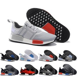 Wholesale Camo Football - 2017 Wholesale Discount Cheap NMD Runner Purple Blanch Red Black Blue Camo Men Women Running Shoes Sneakers Fashion Runner Mesh Casual Shoes