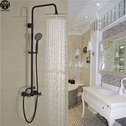 Wholesale Tub Shower Faucet Rain - Yanksmart Oil Rubbed Bronze Bathroom Rain Shower-Faucets ORB Tub Shower Mixer with Shower Head Shower SET