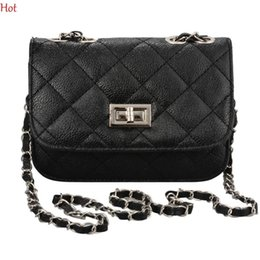 ladies cross body handbags wholesale Coupons - Wholesale- Brand Fashion Woman Bag Ladies Luxury Pu Leather Handbag Chain Shoulder Bag Plaid Women Crossbody Bag Beige Yellow Hot SV002316