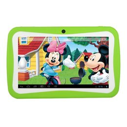 Wholesale Cheapest Kids Tablets - Cheapest Kids Tablets 7 inch Android 4.4 Kid Tablet PC RK3126 Quad Core Bluetooth 1GB+8GB With Games & Apps Best Gifts for kids