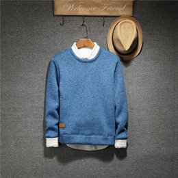 Wholesale Thick Winter Shirts Men - 2016 autumn and winter Korean couples dress sweater T-shirt sweater sweater Mens male young students tide