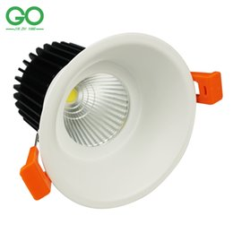 Wholesale Natures Shop - CREE LED Downlight COB 12W Dimmable Round Square Ceiling Recessed Down Lights Lamp Kitchen Bathroom Shops Stores Downlights