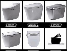 Wholesale Smart Toilet Bidet - 2017 year hot sale,one piece automatic smart intelligent toilet smart one piece toilet intelligent bidet electronic toilet warm seat cover