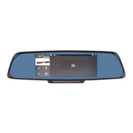 """Зеркало gps dvr камера онлайн-(русский склад) 6.86"""" сенсорный экран 1 ГБ 16 ГБ Android GPS-навигация зеркало автомобиля DVR двойной объектив камеры задняя парковка WiFi FM"""