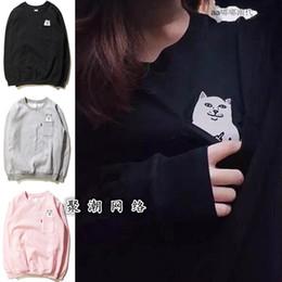 Wholesale Women Cat Suits - New Autumn Pullover Cotton Blend Women Hoodies Sportswear Cat Print sport suit Causal Sweatshirts vs harajuku tracksuit