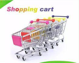Wholesale Mini Model Shop - Free Shipping Cute shopping Cart Mobile Phone Holder Pen Holder Mini Supermarket Handcart Shopping Utility Cart toy holder
