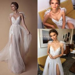 1a60e6b91f8f 2019 merletto elegante del vestito pieno 2018 Elegante pizzo Tulle Beach  Berta Abiti da sposa 3D