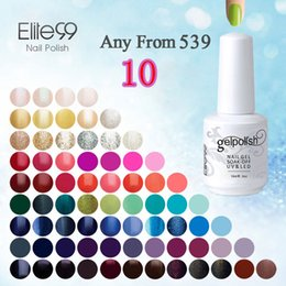 lacquer coating Coupons - Wholesale-Elite99 15ml UV Gel Nail Gel Lacquer Curing Top Coating Base Foundation Acrylic Nail Kit Gel Nail Polish Pick Any 10pcs From 539
