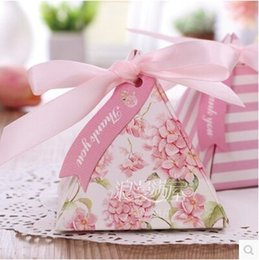 Wholesale Pink Candy Favors - PASAYIONE Kawaii Romantic Pink Series Wedding Candy Boxes Sweet Gift Box Casamento Favors&Gifts Sweet Guest Paper Candy Bag