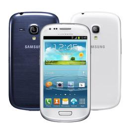 Wholesale Galaxy S3 Dual - Samsung Galaxy S3 Mini i8190 4.0 inch 1GB RAM 8GB ROM Dual Core 5.0MP 3G WCDMA WiFi Original Refurbished Unlocked phone