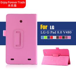Vente en gros - Etui pour LG G Pad 8.0 V480 / V490 8 '' Etui en cuir PU folio de protection pour tablette intelligente pour LG G Pad 8.0 ? partir de fabricateur