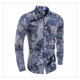 Wholesale Tie Dye Shirts For Men - Men's Casual Shirts Spring&autmn Fashion3D Snow Tie-dyed Men's Casual Long Sleeved Shirts for Men US SIZE:XS-L