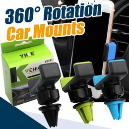 Wholesale Car Accessories Wholesalers - Practical 360° Rotation Car Air Vent Mobile Phone Holder Mount for Cellphone iPhone 6 6S 7 Phone Suction Phone accessories
