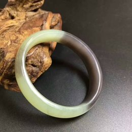 Wholesale Nephrite Jade Bangles - Natural and nephrite yang green smoke green rosary Royal bracelet no black spots without cracks with certificate