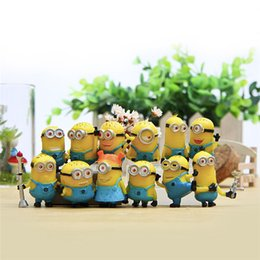Wholesale Despicable Minion Plush Wholesale - Despicable Me 2 Minions in Action Figures Minions Toys Doll New cheap Toy Set 12PCS Set Retail Lovely Plush Toys Girls Gifts