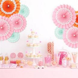 Wholesale Diy Paper Fan - ecorative Wedding Paper Crafts 20 25 30CM Flower Origami Paper Fan DIY Wedding Birthday Party Decorations Supplies Kids