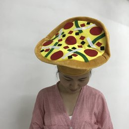 Wholesale Wholesale Cloche Hat - Novelty Pizza Hamburgers hat New Arrivel Halloween party Hats As a Gifts For Christmas Caps Beanie