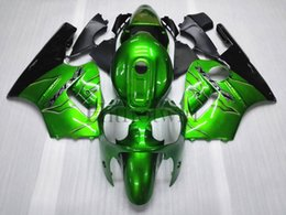 Wholesale Ninja Zx12r - ABS Plastic Bodywork set For Kawasaki ZX-12R 2000-2001 ZX 12R 00 01 green Aftermarket Fairing
