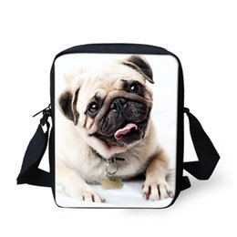 Wholesale Vintage Pug - Cute Pet Pug Dog Print Girls Messenger Bag Shoulder Bags Women Casual Bags Handbag Fashion Small Bag for Kids