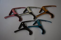 Wholesale Guitar Tuning Acoustic - Fashion Quick Change Tune Clamp Key Trigger Guitar Capo For Acoustic Electric Guitar
