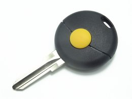 Wholesale Replacement Mercedes Keys - Replacement Remote Uncut Key Fob Case 1 Button for Mercedes Benz Smart Key Shell