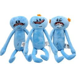 Wholesale Cartoon Happy Face - 25cm rick And Morty plush toy Mr Meeseeks Happy & Sad & Angry Face Stuffed Plush Doll Soft Toy Cartoon Stuffed doll KKA2239