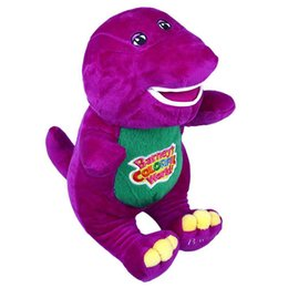 Wholesale Love Dolls Sales - New Sale HOT Barney The Dinosaur 38cm Sing I LOVE YOU song Purple Plush Soft Toy Doll