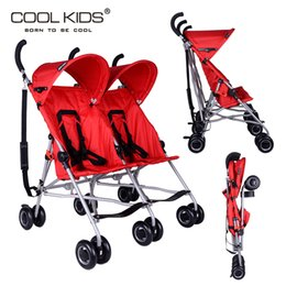 Wholesale Black Baby Twins - Wholesale- Super light twin baby stroller black red color travel baby twins strollers