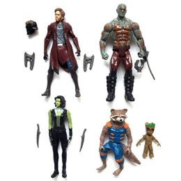 Wholesale Wholesale Collectable Dolls - Guardians of the Galaxy 2 PVC Action Figures Collectable Model Comics Heroes Avengers Star-Lord Rocket Baby Groot Dolls Cartoon kids Gift To