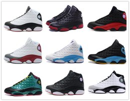 Wholesale Mesh Rhinestones - retro 13 basketball shoes history of flight HOF DMP black cat he got game play off barons sneakers men women Sports shoes 2017