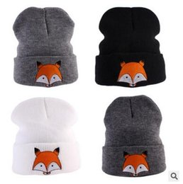 Wholesale Kid Custome - Winter Hats Fox Baby Girls Boys Beanie Kids Winter Knitted High Quality Baby Custome Caps Headwear Christmas Gifts DHL Free Shipping