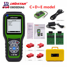 Wholesale Usb Eeprom Programmer - 2017 Original OBDSTAR X100 PROS C + D +E model Key Programmer with EEPROM adapter IMMO+Odometer+OBD+EEPROM