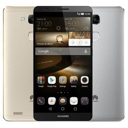 Wholesale Huawei Android Dual Sim - Refurbished Original Huawei Ascend Mate 7 6.0 inch 4G LTE Octa Core 2GB 3GB RAM 16GB 32GB ROM 13MP Dual SIM Smart Mobile Cellphone DHL