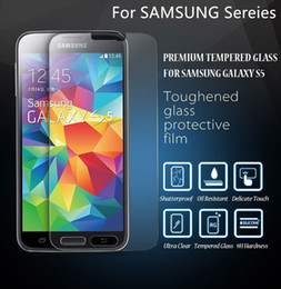 Wholesale S4 Plastic Screen Protector - Explosion Proof Tempered Glass Screen Protector For Samsung S7 S5 S4 S3 Note 5 4 3 S5 S4 S3 Mini With Plastic Pack
