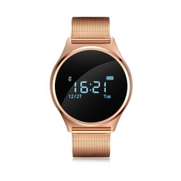 Wholesale M7 Phone - Wholesale- Smartch Sliver Gold Black M7 Smart Bracelet Touch Screen OLED 0.96 Inch Smart Wristband Smartwatch Support Android IOS phone