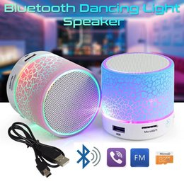 Wholesale Texture Phone - Mini portable S10A9 crackle wireless texture Bluetooth Speaker with LED light mobile phone player with retail box