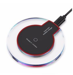 Wholesale Universal Mobile Battery Charger Eu - Qi Wireless phone Charger for SAMSUNG android iphone mobile phone battery charger charging universal USB kit charger transmitter