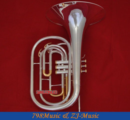 Wholesale french valve - Wholesale- Silver Plated Marching French horn gold plated valves cup With Case