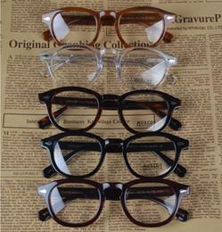 Wholesale Eyeglasses Frame Men Brand - Brand Glasses-2016 Moscot lemtosh eyewear johnny depp glasses top Quality brand round eyeglasses frame with Arrow Rivet 1915 free shipping