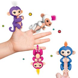 Wholesale Wholesale Hot Monkey - 2017 New Hot 6 Colors Fingerlings Monkey Interactive Baby Monkey Smart Rings Colorful Finger Ring Induction Toys for Kids Christmas Gifts