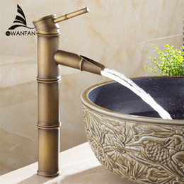 Wholesale Ceramic Toilets Basins - Free shipping Bathroom tap bath faucets tap toilet Antique brass finishing basin faucets single hand wash basin tap ZLY-6660