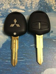 Wholesale Mitsubishi Grandis - Replacement 2 Buttons Mitsubishi Grandis Car Key Remote Case Fob Blank Cover Shell Blank With Groove On Left Of Blade