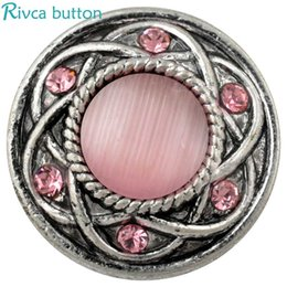 Wholesale Girl Beads European - D00401 newest design noosa snap button rhinestone jewelry for girls