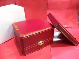 Wholesale Book Gift Boxes - High quality Luxury Brand Red Original Mens Watch Box Gift Womens Watches Boxes Certificate Cards Books